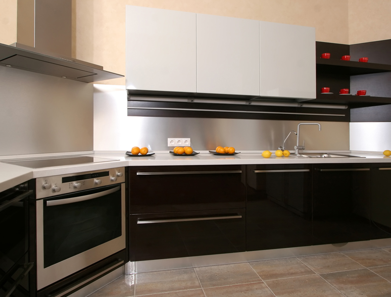 L Shape Modular Kitchen - kt011