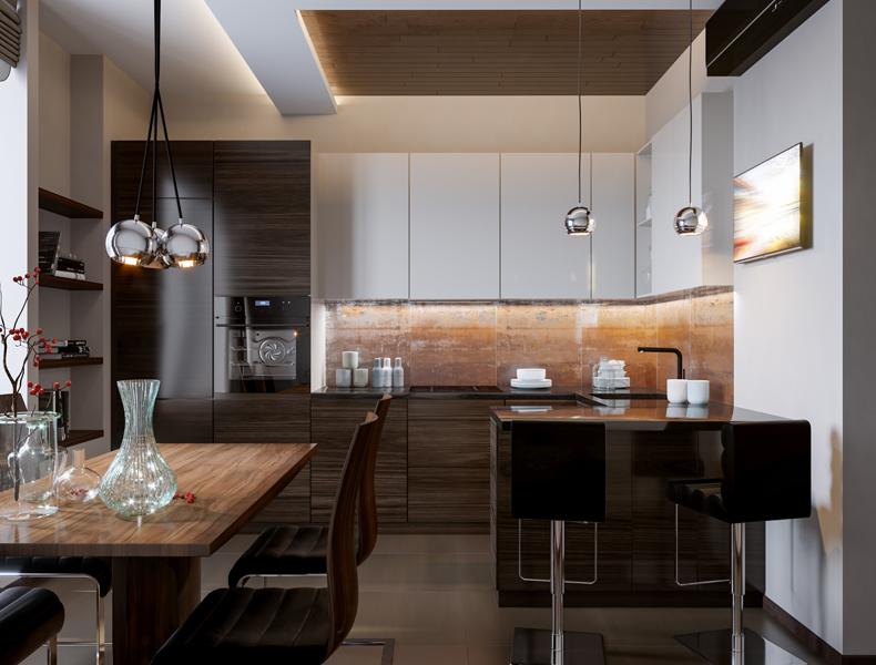 Island Modular Kitchen - kt002