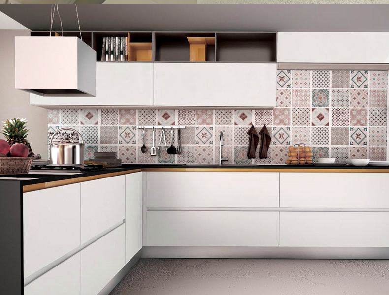 L Shape Modular Kitchen - kt007