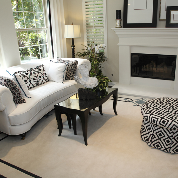 Classic Black & White Sofa Sets