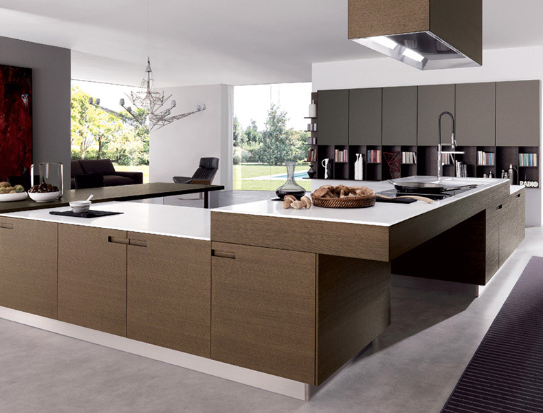 U Shape Modular Kitchen with a twist