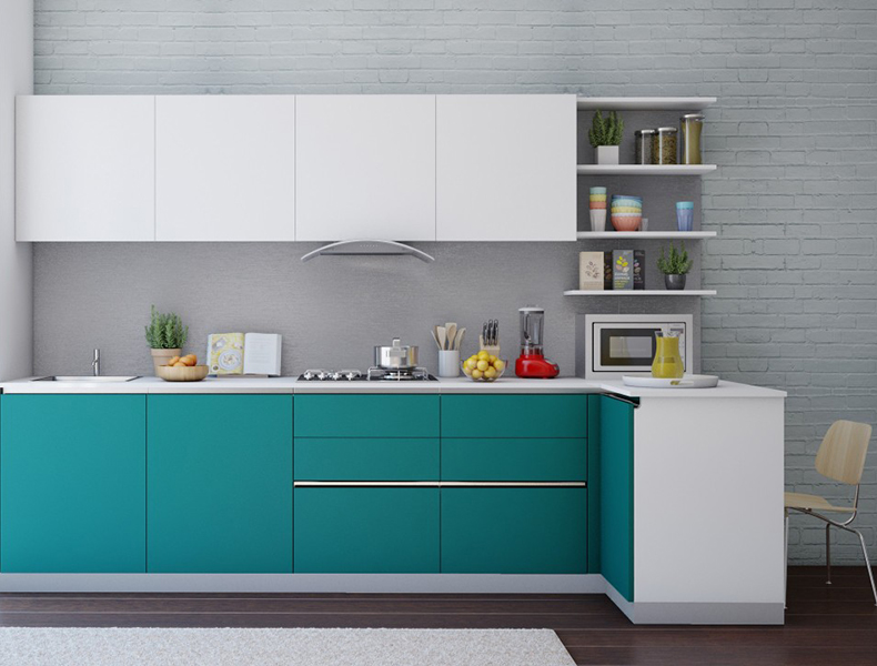 L-shaped Modular-kitchen