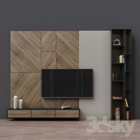 Wall unit design for led tv