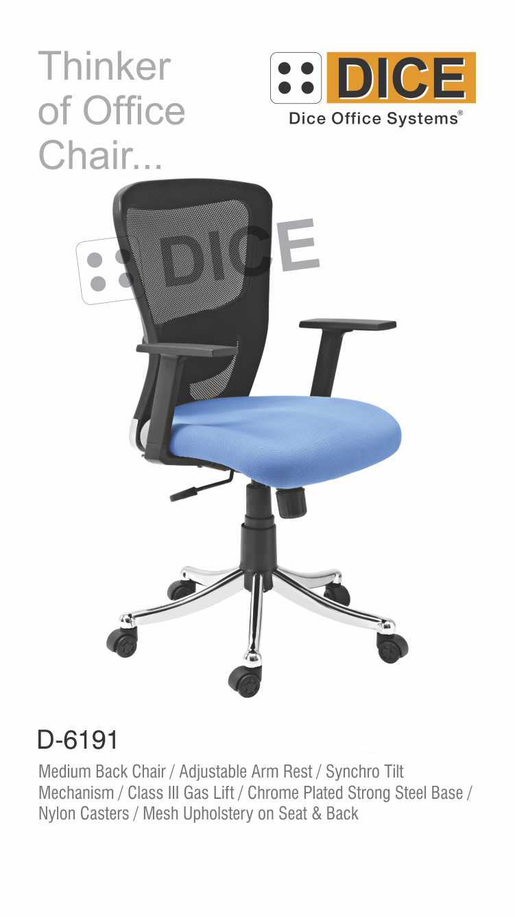 black_and_blue_office_chair_mesh_upholstery