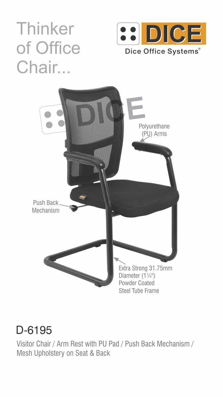 Black Office back Chair-6195