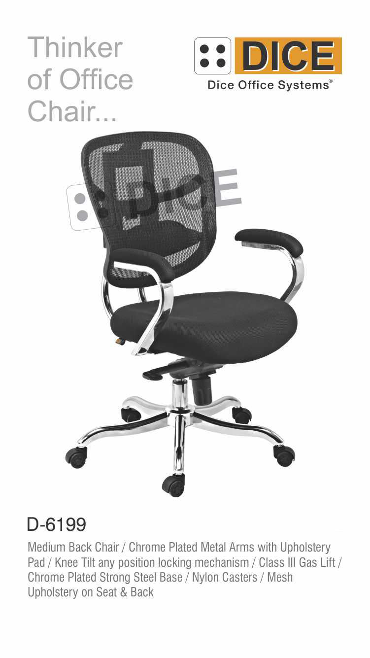 Black Office back Chair-6199