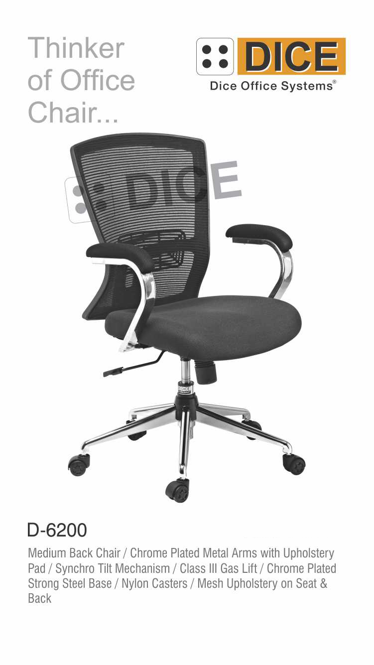 Black Office back Chair-6200
