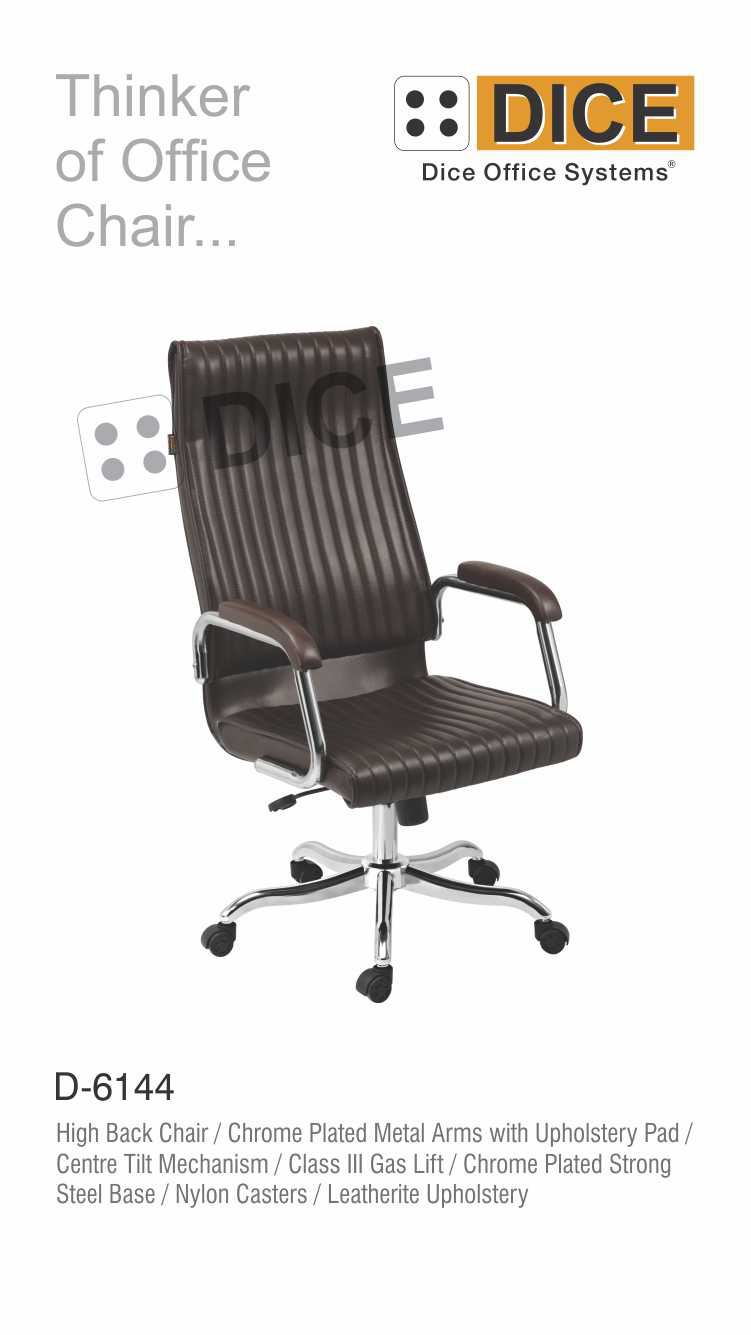 Black Office Chair Chrome Steel Base-6144
