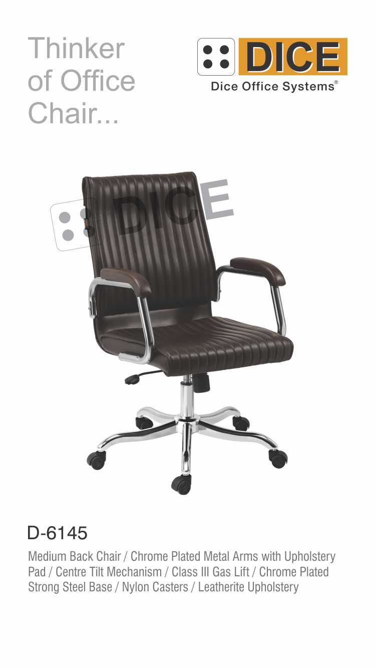 Black Office Chair Chrome Steel Base-6145