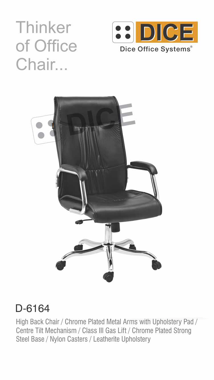 Black Office Chair Chrome Steel Base-6164