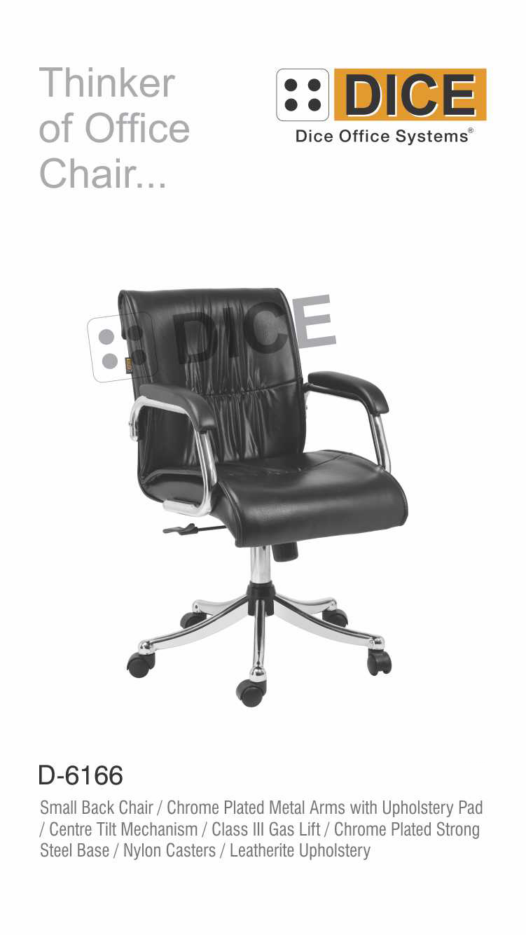 Black Office Chair Chrome Steel Base-6166