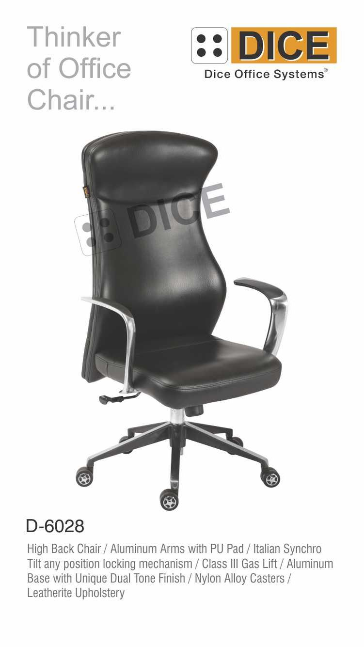 Black Office Chair Leather-6028
