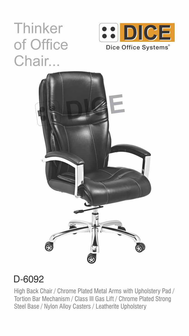 Black Office Chair Leather-6092