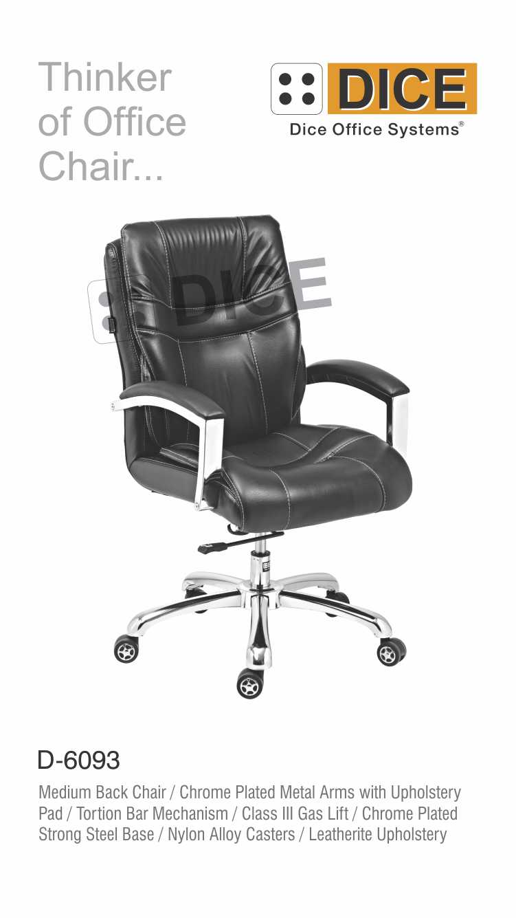 Black Office Chair Leather-6093