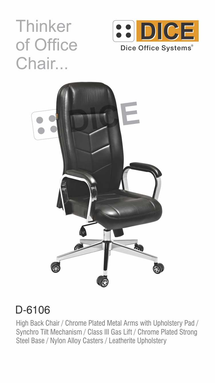 Black Office Chair Leather-6106