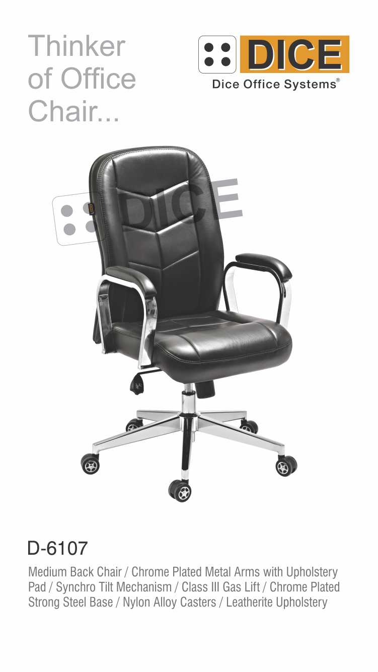 Black Office Chair Leather-6107