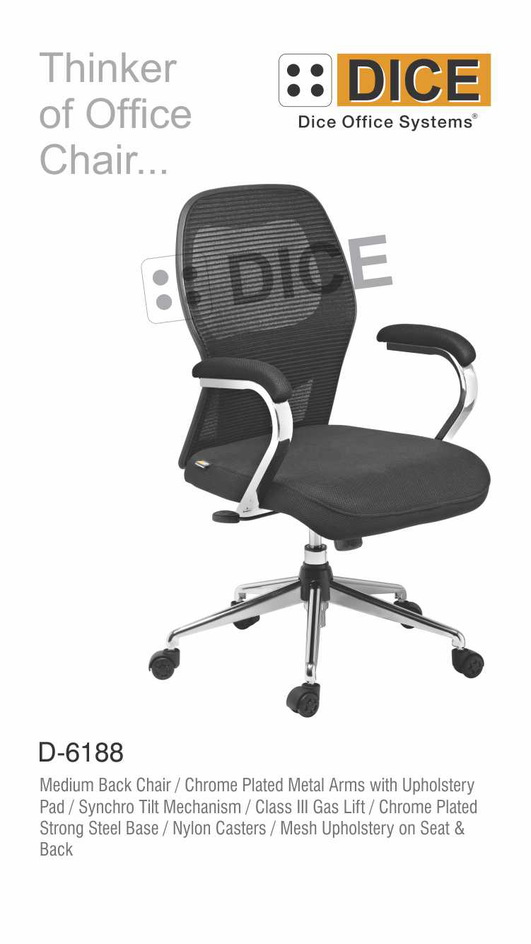 Black Office Chair mesh Upholstery-6188