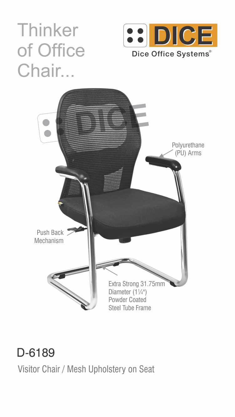 Black Office Chair mesh Upholstery-6189