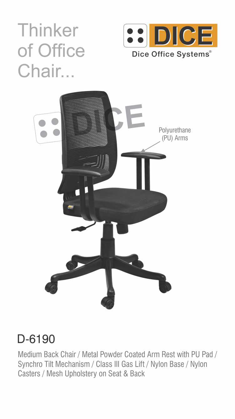 Black Office Chair mesh Upholstery-6190