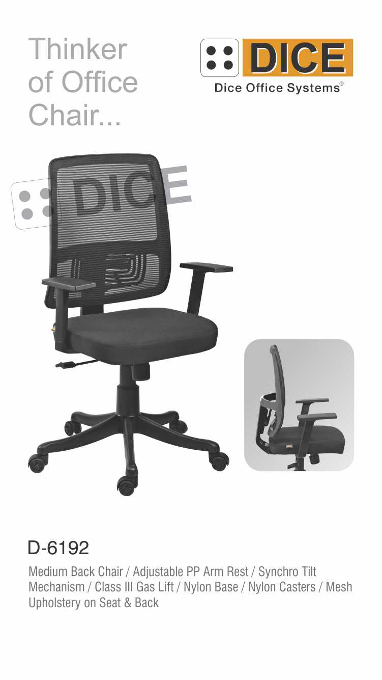 Black Office Chair mesh Upholstery-6192