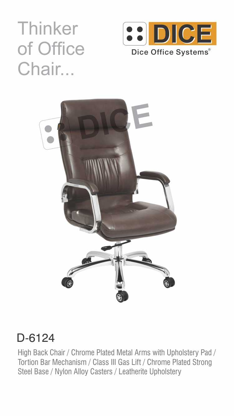Black Office Chair Nylon Caster-6124