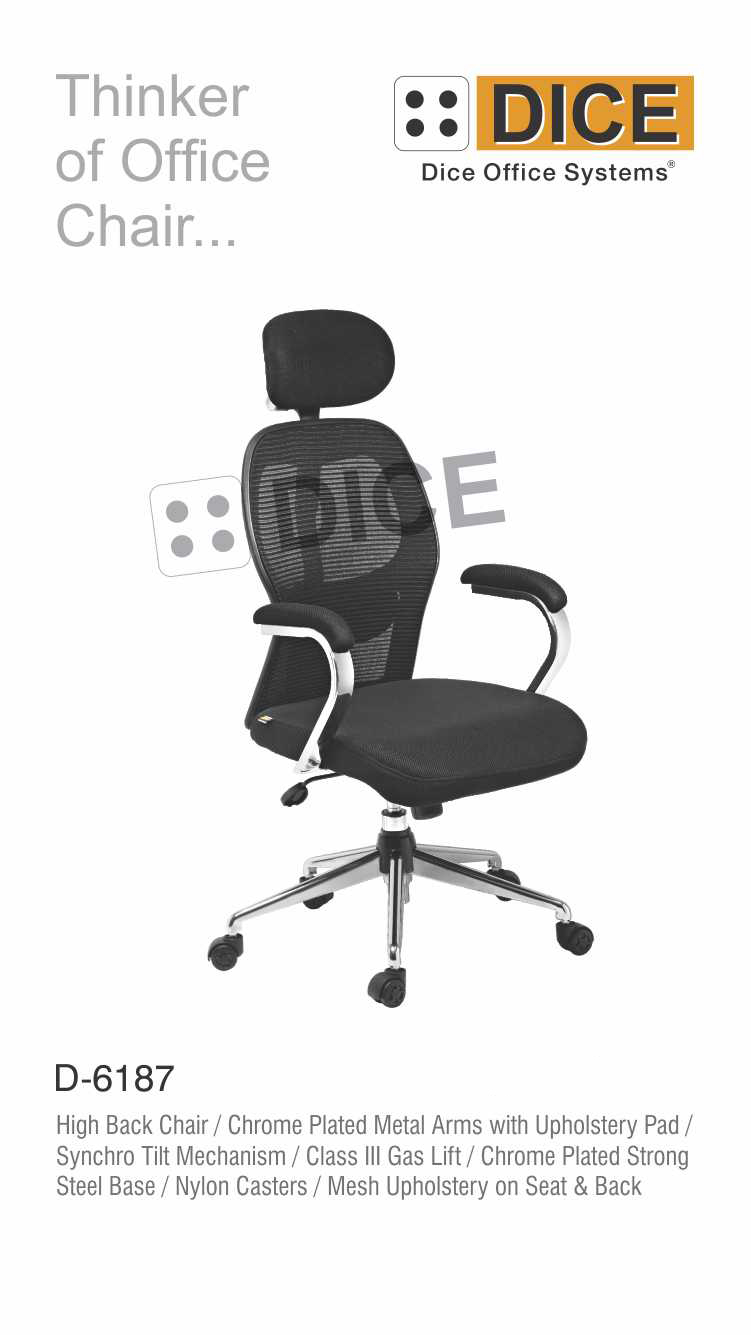 Black Office Chair Nylon Caster-6187