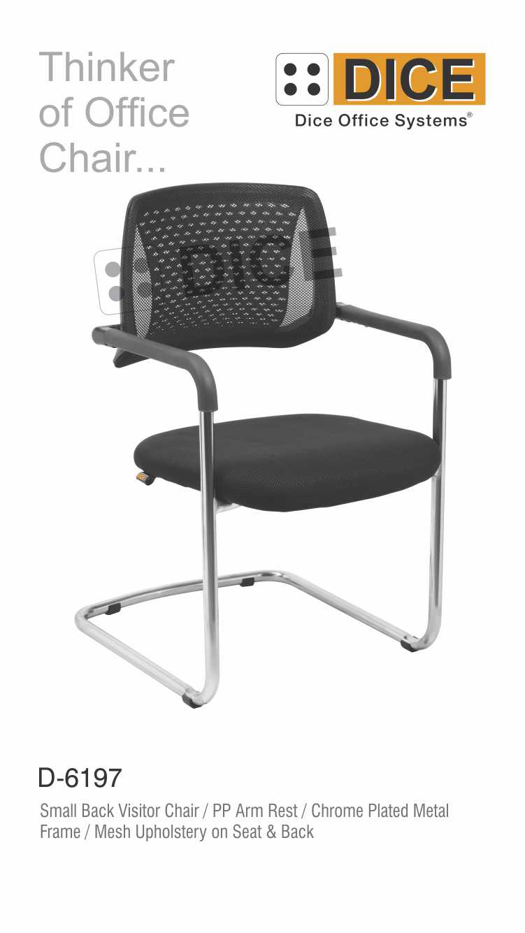 Black Office Visit Or Back chair-6197