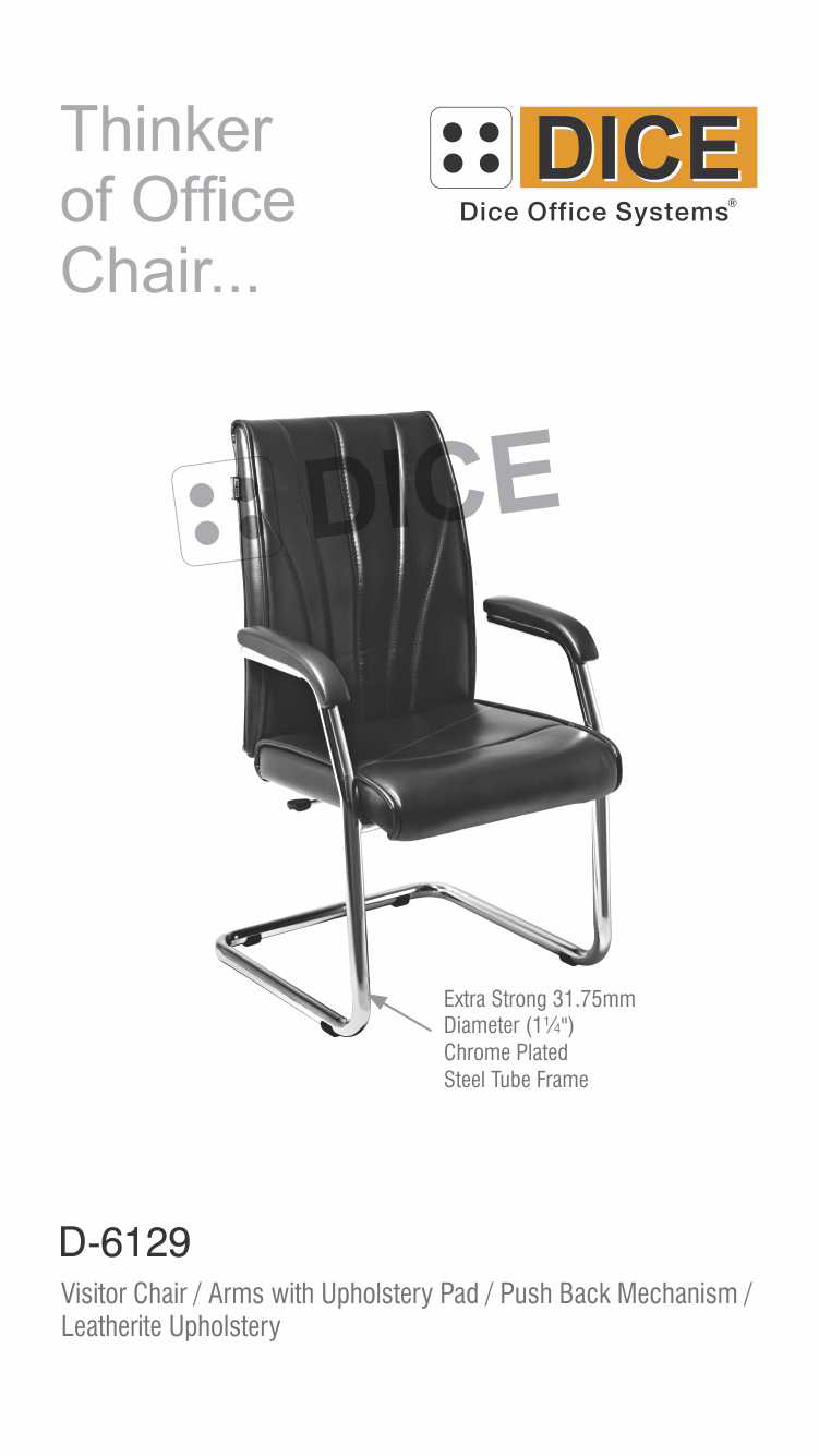 Black Visitor Chair Pu Arm Pad-6129
