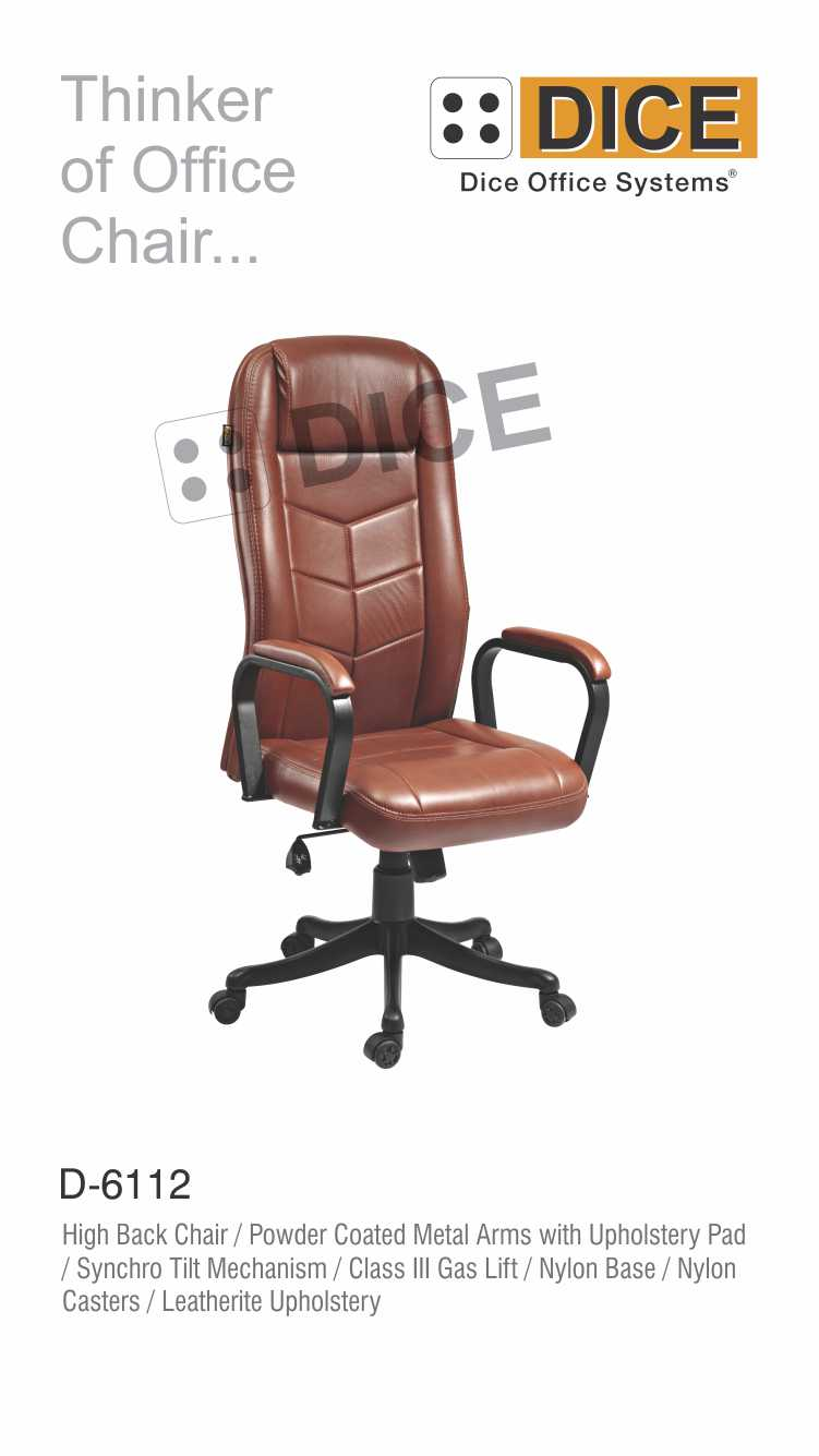 Brown Office Chair Chrome Pad Metal Arms-6112