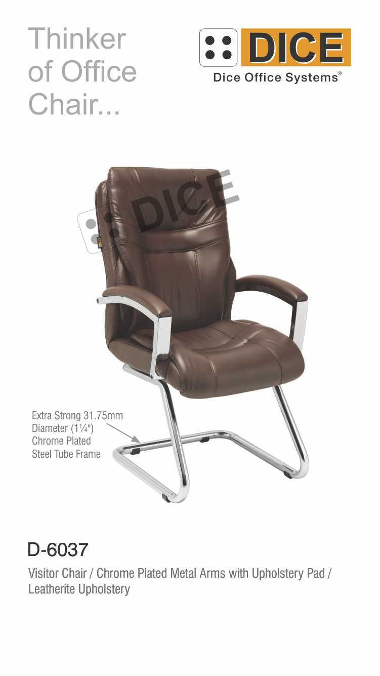 Dark Brown Office Chair Leather-6037