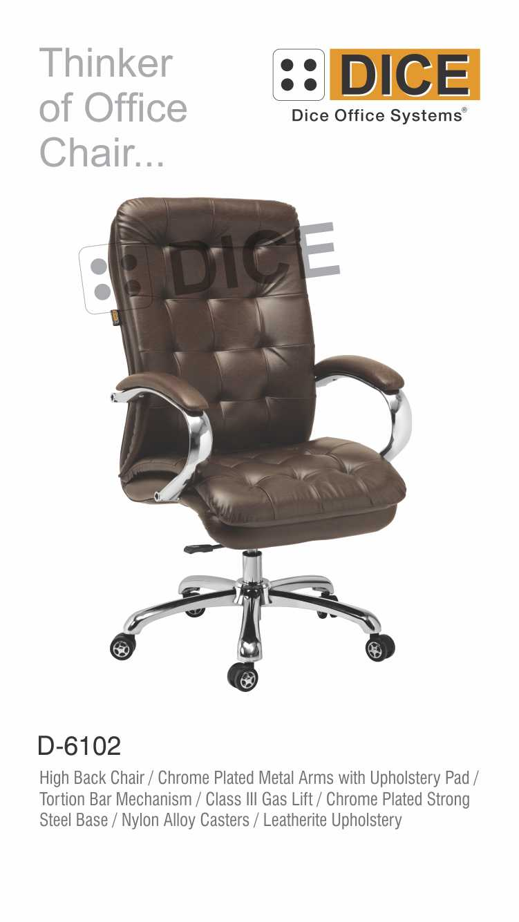 Dark Brown Office Chair Leather With Steel Base-6102