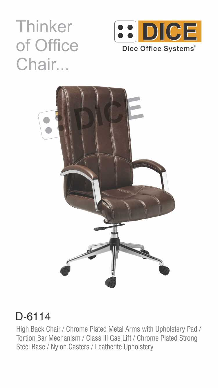 Dark Brown Office Chair Leather With Steel Base-6114