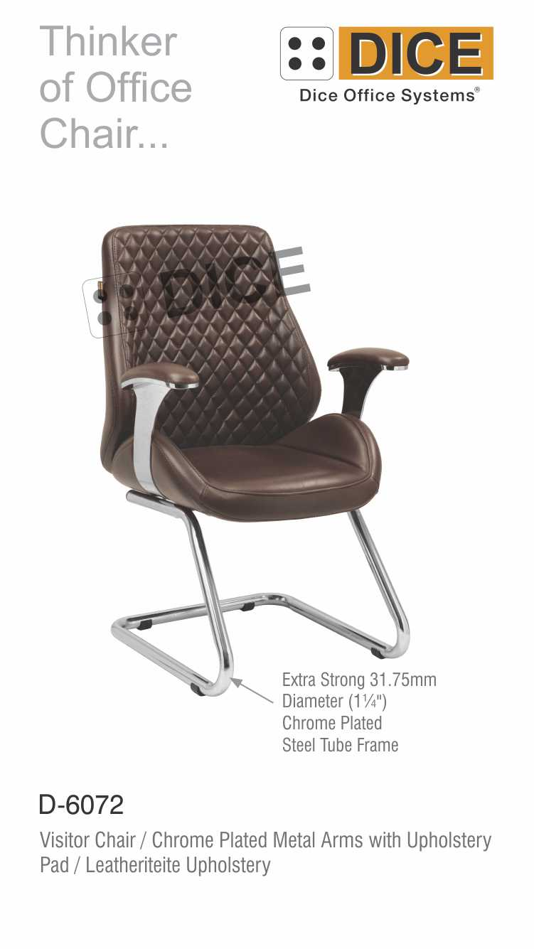 Dark Brown Office Visitor Chair Leather-6072