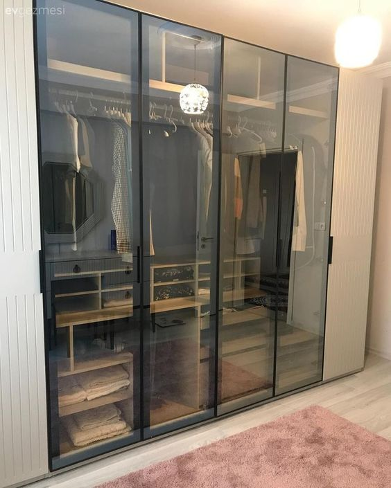 glass wardrobe designs for bedroom