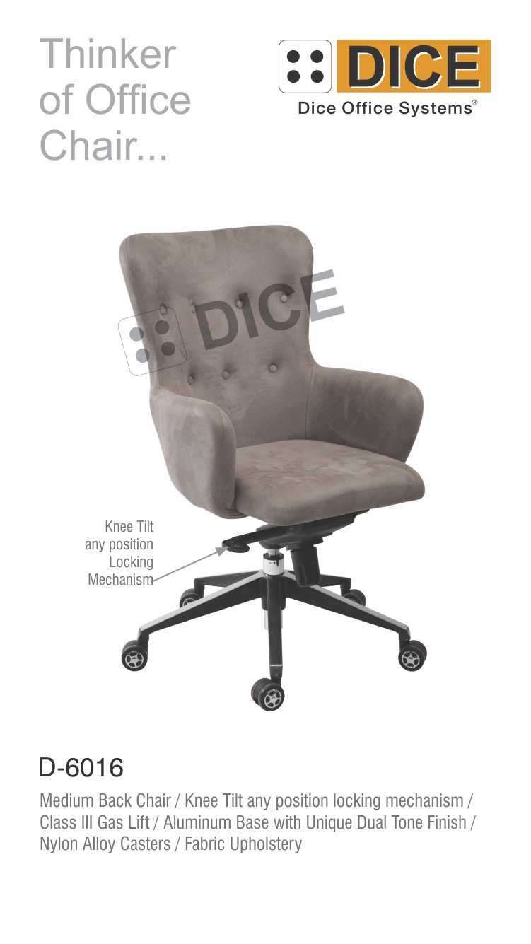 Grey Office Chair FabricUpholstery-6016