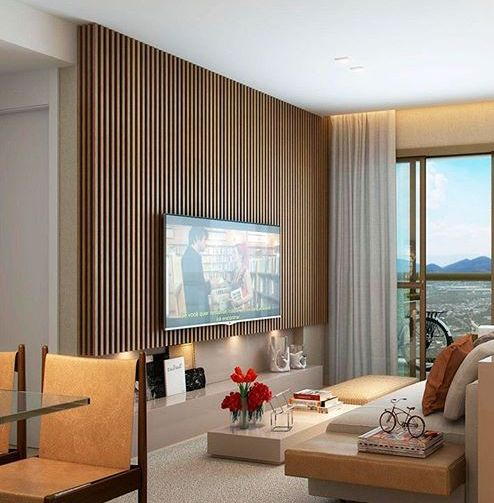LED tv wall unit design