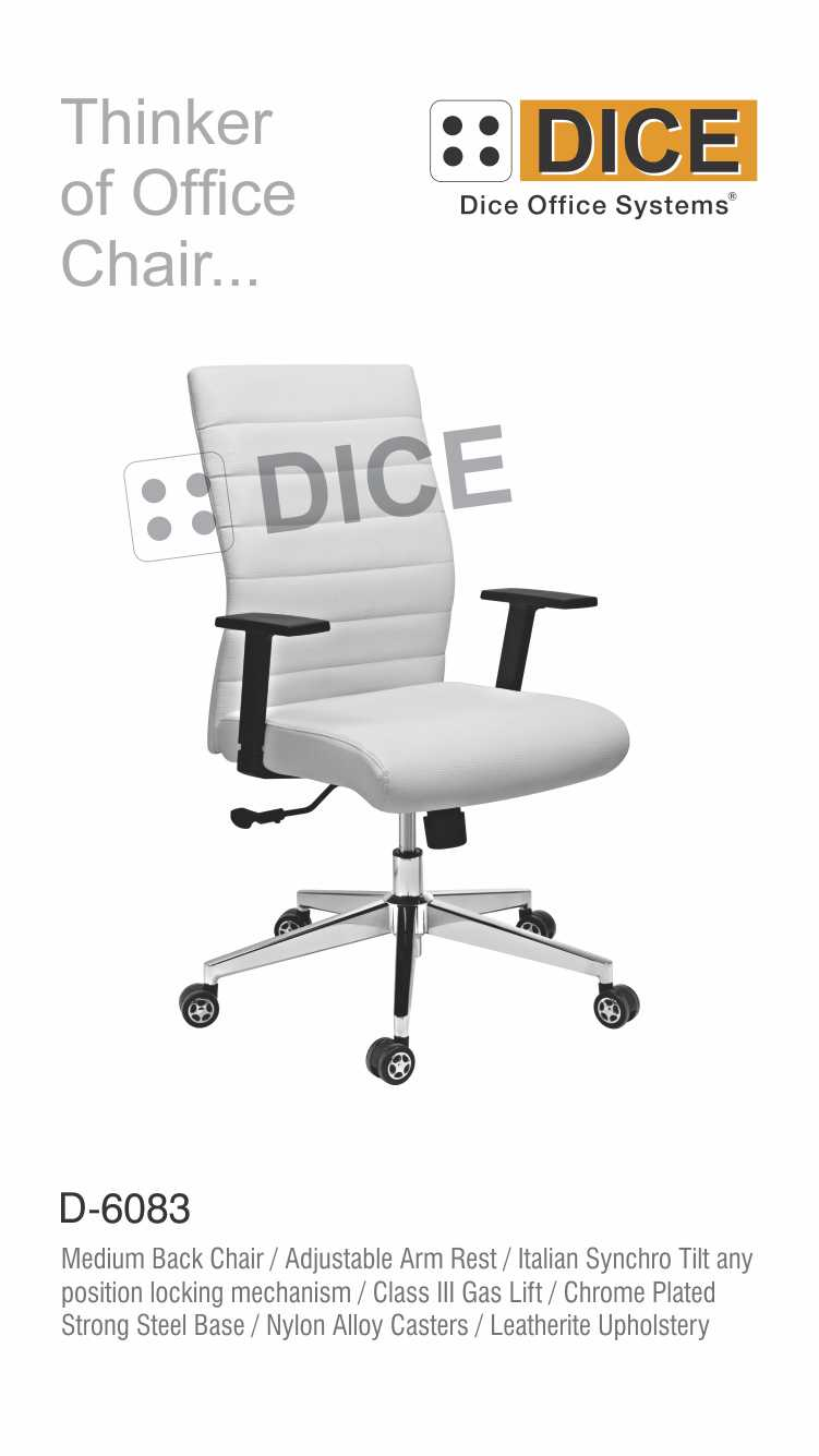 Off White Office Chair Metal Arms With gas Lift-6083