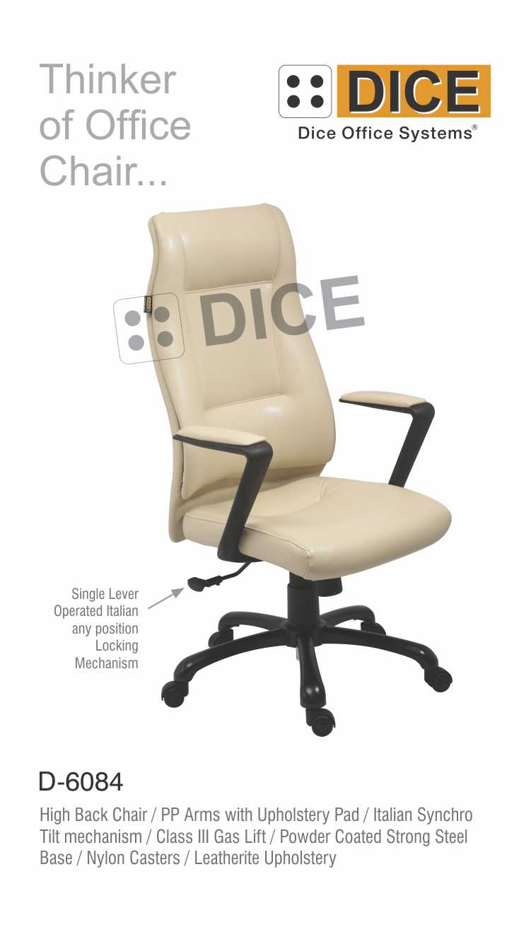 Off White Office Chair Nylon Caster-6084