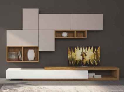 Simple TV wall unit design